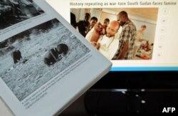 تصویر کودکی که در اثر سوءتغذیه از حال رفته و لاشخوری به انتظار مرگ او نشسته است؛ این عکس توسط کوین کارتر در سال ۱۹۹۳ در سودان گرفته شد.