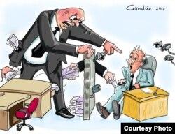 Karikaturanın müəllifi: Gündüz Ağayev