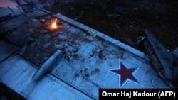 Фрагмент російського літака Су-25, збитого над Сирією 3 лютого