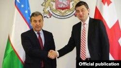 Gruziya Iqtisodiyot va taraqqiyot vazirligi boshlig'i Georgiy Gaxariya va Oliy Majlis Senati raisi Sodiq Safoev
