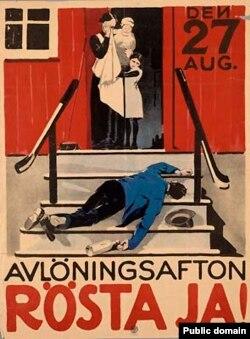 """Плякат на карысьць """"сухога закону"""" у Швэцыі, 1922"""