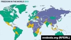 Рівні свободи. Оцінка Freedom House. Звіт від 5 червня 2019 року