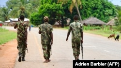 Патруль армии Мозамбика в провинции Кабу-Делгаду