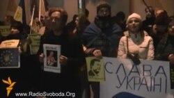 Українці Чехії мітингують на підтримку Євромайдану