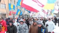 Мітинг опозиції в Ужгороді