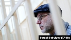 Aleksei Malobrodsky attends a court hearing in Moscow on May 10.