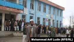 Voters queue in the Afghan capital Kabul.