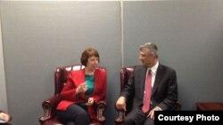 Susret Catherine Ashton i Hashima Thacija u New Yorku