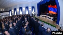 Armenia - Senior police officers and government officials mark Police Day at a meeting in Yerevan, 16JApr2014.