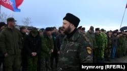 Глава черноморской казачьей сотни Анатолий Марета