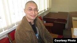 Юрист Евгений Танков после ареста. Караганда, 7 апреля 2014 года.