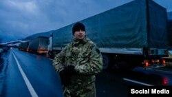 Ілюстраційне фото. Блокада росйських вантажівок в Україні, лютий 2016 року