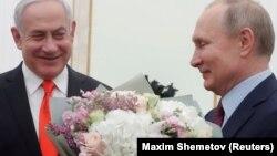 Премьер-министр Израиля Биньямин Нетаньяху и Владимир Путина на переговорах в Москве, 30 января 2020 года