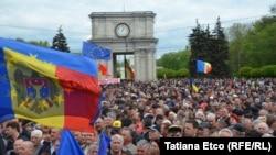 Акция протеста в Кишиневе, 3 мая 2015 года.