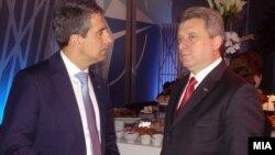 Претседателот Иванов со бугарскиот претседател Росен Плевнелиев.
