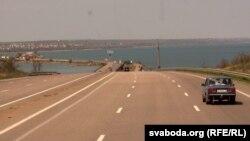 Траса E95 (Кіеў-Адэса) праз Хаджыбейскі ліман
