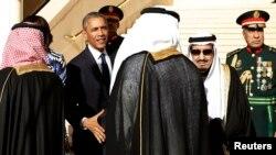Barack Obama və kral Salman. 27 yanvar 2015.