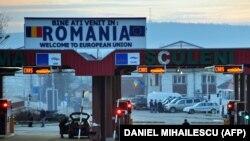 Frontiera română la punctul de trecere de la Sculeni