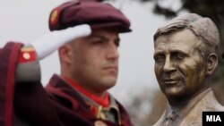 Macedonia - Observance of 9. anniversary of President Boris Trajkovski's death - 26Feb2013