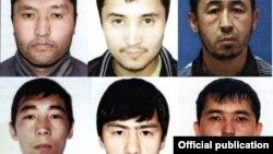 Убитые в спецоперации подозреваемые в нападении на полицейских. Слева направо: Байузах Даулетбек, Азамат Манханов, Аскар Утепов, Калдыбек Алпышев, Елдар Жолдин, Айдос Бримкулов.