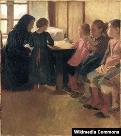 Оскар Б'ёрк, «Школа для дзяўчынак Мадам Генрыксэн у Скагене» (1884)