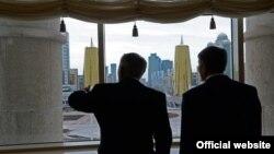 Нурсултан Назарбаев жана Алмазбек Атамбаев, 7-ноябрь, 2014-жыл, Астана