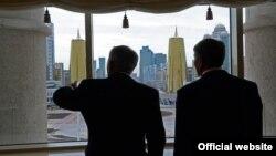 Нурсултан Назарбаев и Алмазбек Атамбаев, 7 ноября 2014 года, Астана.