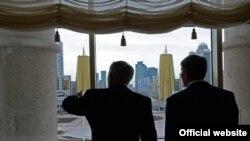 Нурсултан Назарбаев и Алмазбек Атамбаев, 7 ноября 2014 года, Астана