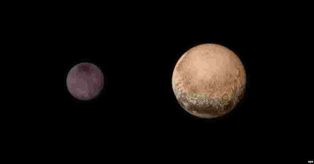 Харон белән Плутон фотога икесе бергә дә төшерелгән.