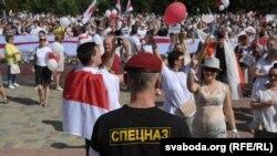 Ілюстрацыйнае фота. «Марш Свабоды» ў Горадні 16 жніўня