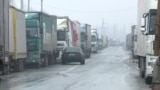 Kyrgyzstan - More than a hundred heavy vehicles stood on the border of Kyrgyzstan with Kazakhstan. January 7, 2020