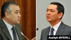 Өмүрбек Текебаев менен Өмүрбек Бабанов.