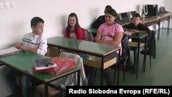 Ученици во основно училиште во Кичево.