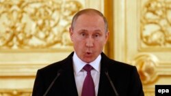 Владимир Путин на прощании с олимпийской сборной РФ 27 июля 2016