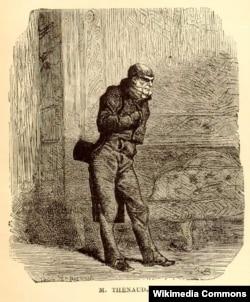 """Viktor Hüqonun """"Səfillər"""" əsərinin qəhramanı, dünya ədəbiyyatının ən unudulmaz obrazlarından biri Thénardier-in qravürü."""