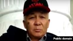 Кадр из видео предсмертного обращения Омирбека Жампозова.