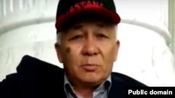 """Youtube желісіне жарияланған """"Жампозов О. Обращение к президенту РК"""" видеосынан алынған скриншот."""