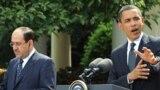 أوباما والمالكي في مؤتمر صحفي بالبيت الأبيض