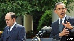 أوباما والمالكي في لقاء سابق
