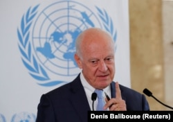 "The UN's Syria envoy, Staffan de Mistura: ""There are indeed many more babies than there are terrorists in Idlib."""