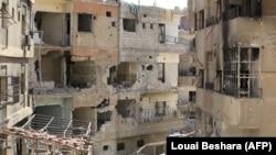 Сирийский город Дума, 16 апреля 2018 года