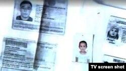 """""""7 арна"""" бұл адамдарды """"Сирияға кеткен жиһадшылардың бірі Кенжебек Ахмадиев пен қызы"""" деп сипаттады. (Скриншот """"7 арна"""" сайтындағы видеодан алынды)."""