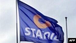 Statoil компаниясының жалауы. Норвегия, Осло, 24 қыркүйек 2003 жыл.