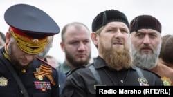 Рамзан Кадыров на параде в Грозному 9 мая