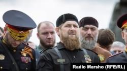 Россия, Чечня. 09.05.2016. Парад в Грозном
