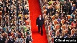 Тәжікстан президенті Эмомали Рахмон ел парламентінде. Душанбе. 20 қаңтар, 2016 жыл.