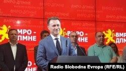 Архивска фотографија-претседателот на ВМРО-ДПМНЕ Никола Груевски