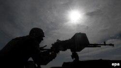 یک سرباز نیروهای افغان