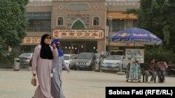 Площадь в Кашгаре на юге Синьцзяна. Иллюстративное фото.