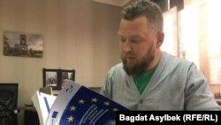 """""""Еркін адамдар"""" емханасының бас директоры Антон Гордеев."""